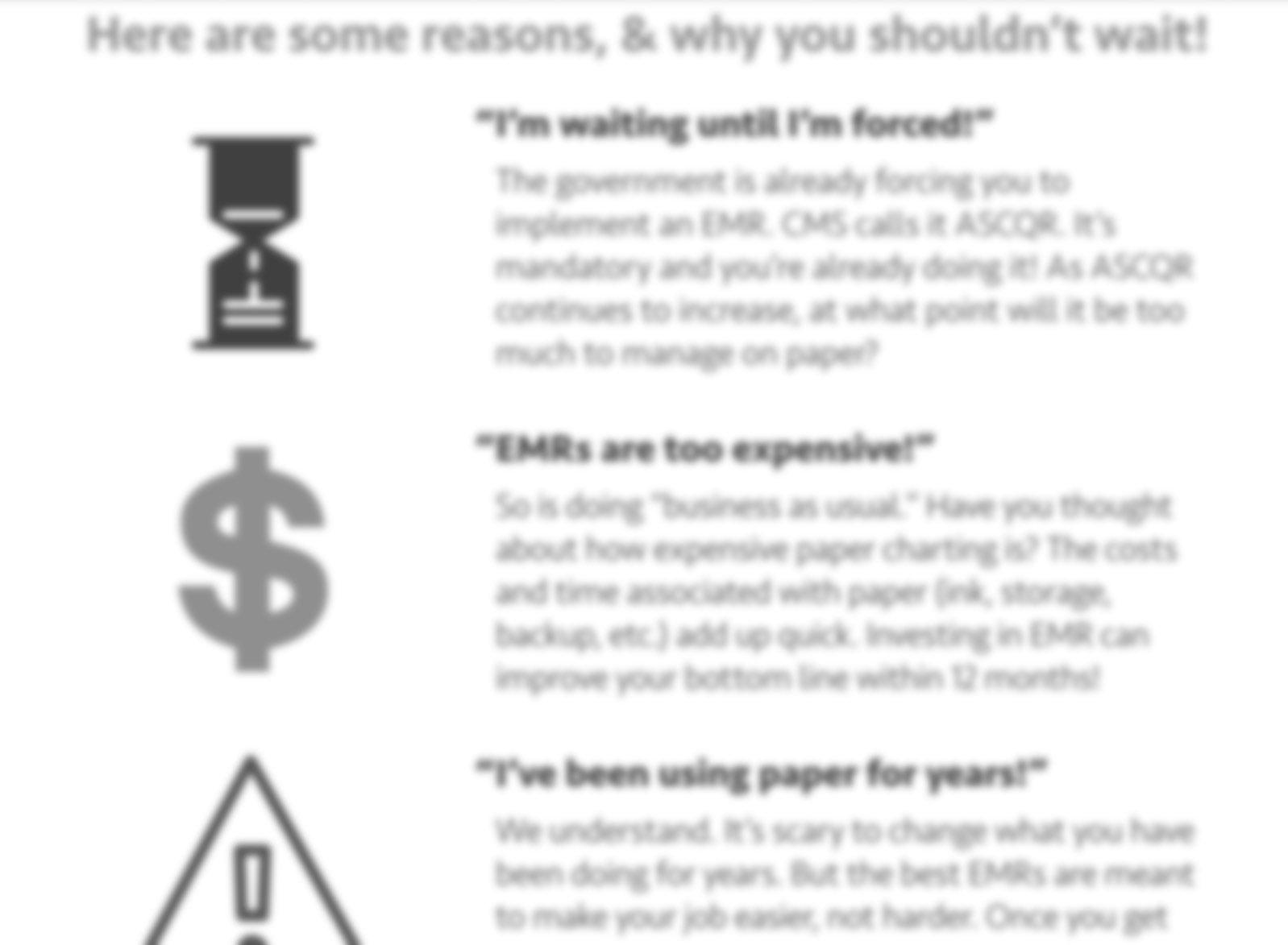 Top 5 Reasons People put off EMRs in ASCs