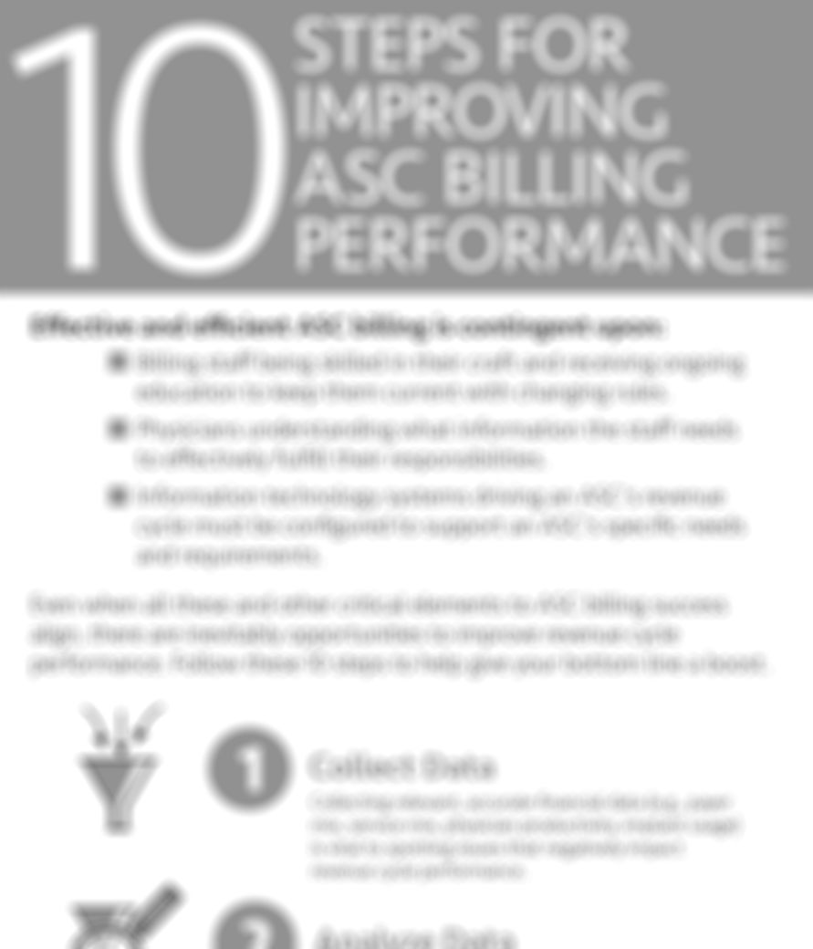 10 Steps for Improving ASC Billing Performance