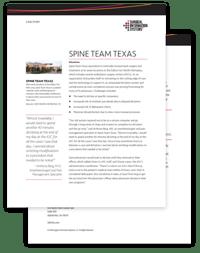 Spine Team Texas Case Study