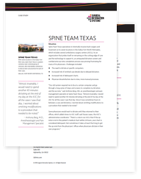 Spine Team Texas Case Study