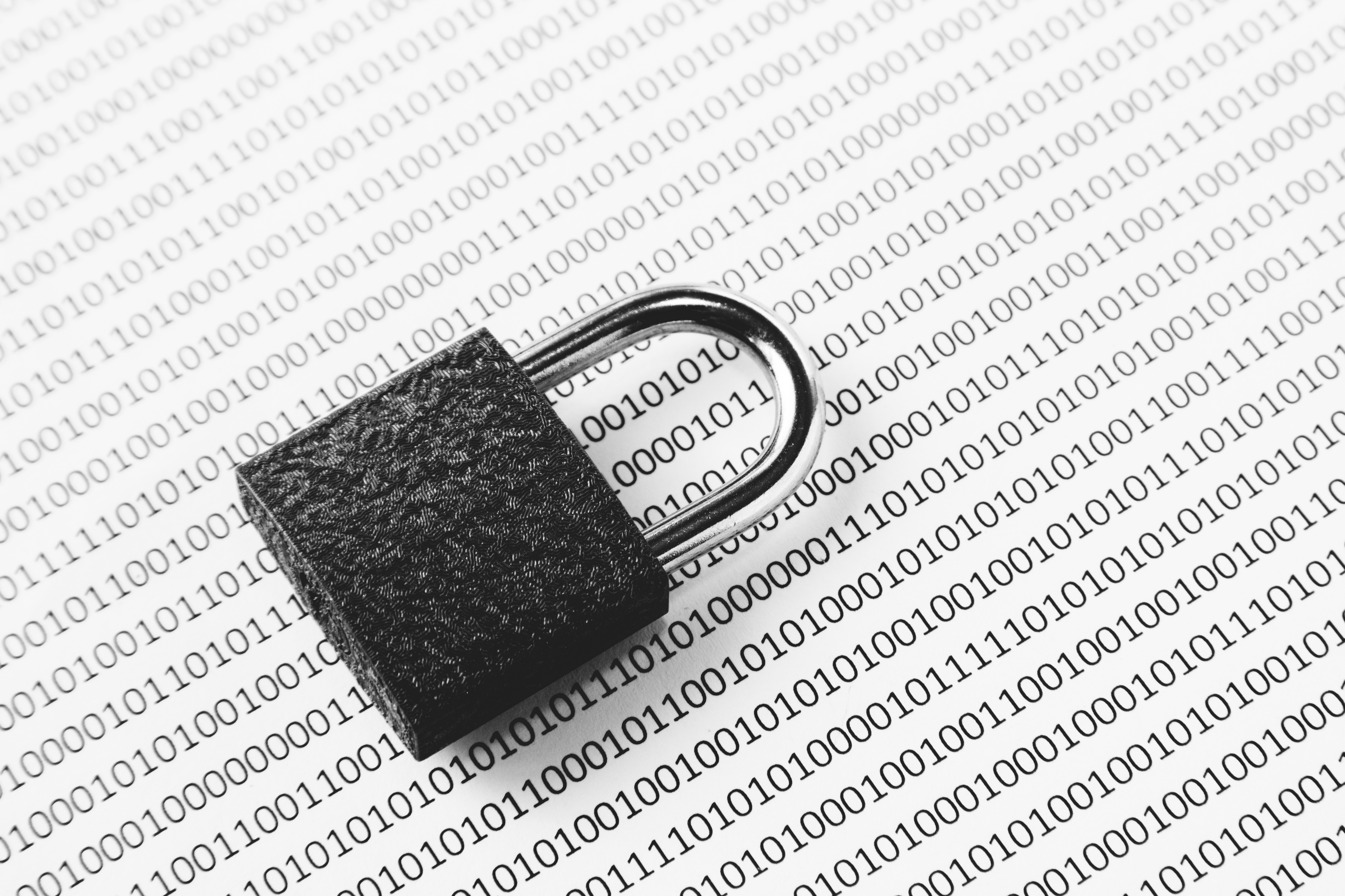 cyber security lock and code image
