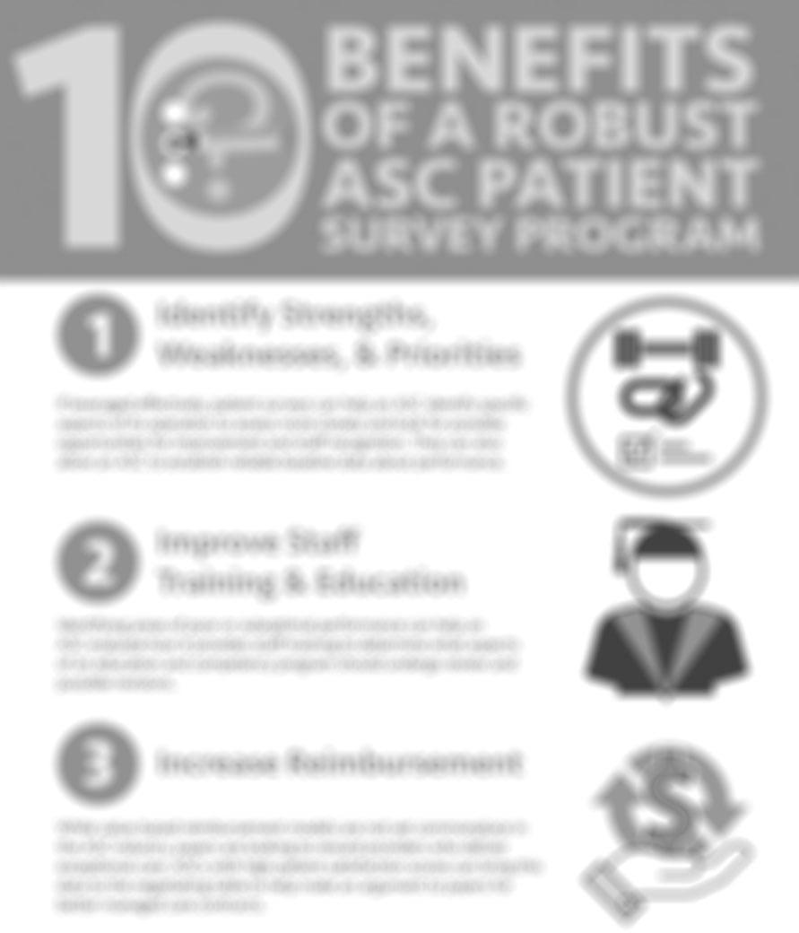 10 Benefits of a Robust ASC Patient Survey Program
